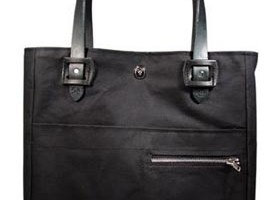3sixteen Tanner Goods Black Waxed Canvas tote