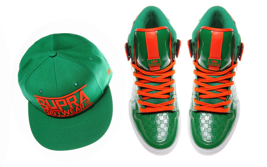 Chaussures Supra Vaider St Patrick's Day
