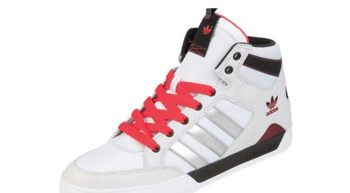 adidas Hardcourt Mid blanc-Metallic-rouge