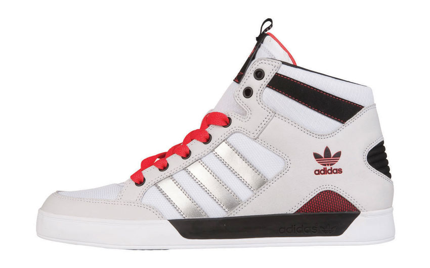 adidas Hardcourt Mid blanc-Metallic