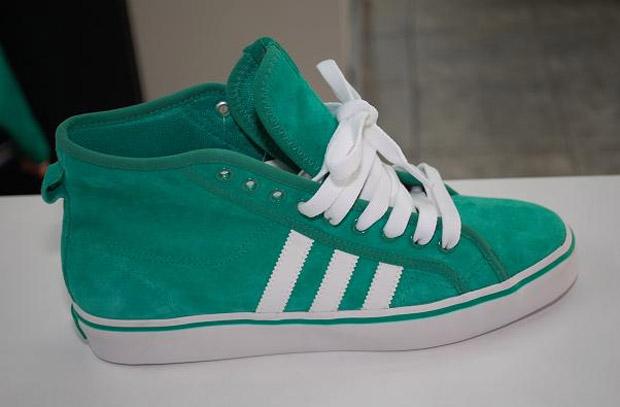 Adidas Nizza Hi 2011 suede vert