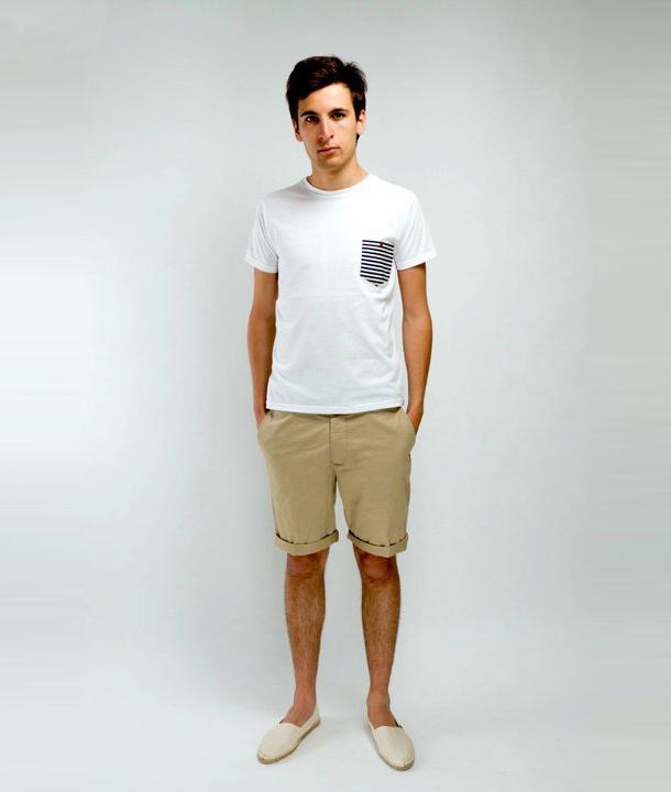 Les Jardins Parisiens - Collection n°3 - t-shirt poche mariniere