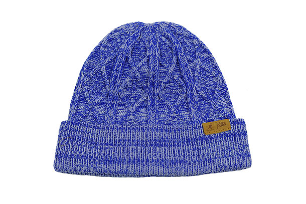 Bonnet Kangol x Patta Cable Knit Beanie Bleu/Blue