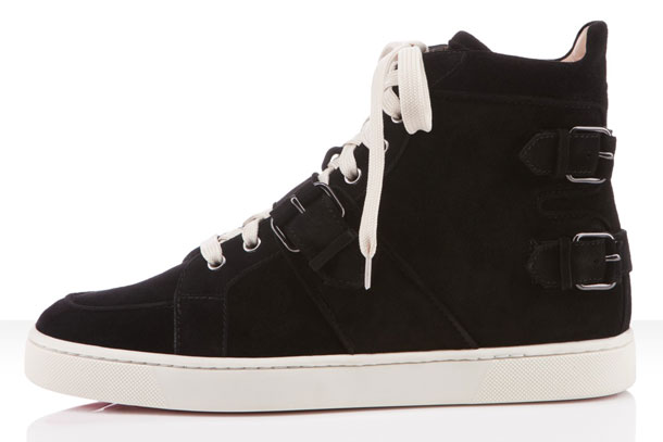 Christian Louboutin Mickael Flat Black Suede 2012