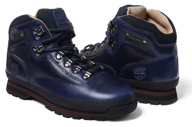 Supreme x Timberland Euro Hiker Boot Blue