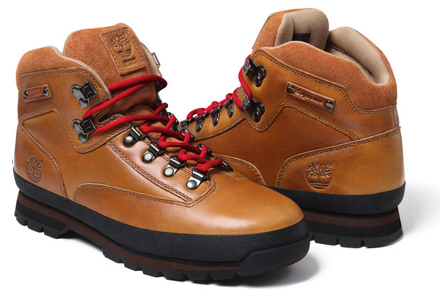 Supreme x Timberland Euro Hiker Boot Brown/Red
