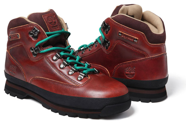 Supreme x Timberland Euro Hiker Boot Marron/Turquoise