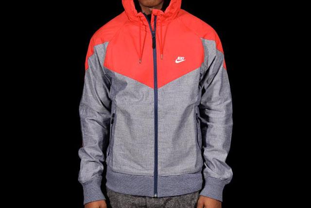Nike Ru Chambray Superrunner Jacket Red