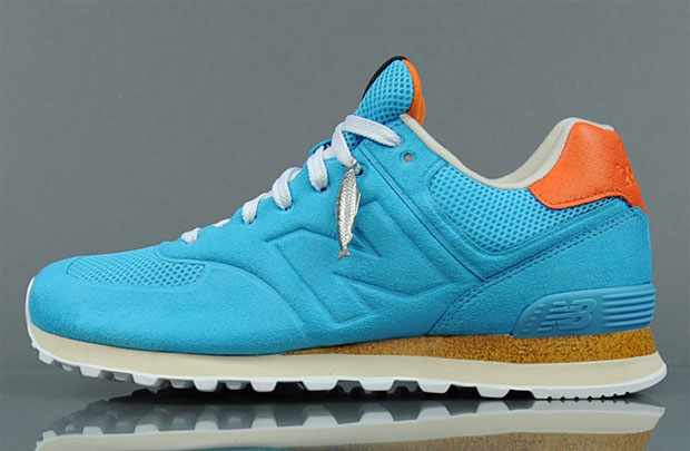 Begins x New Balance 574 Turquoise