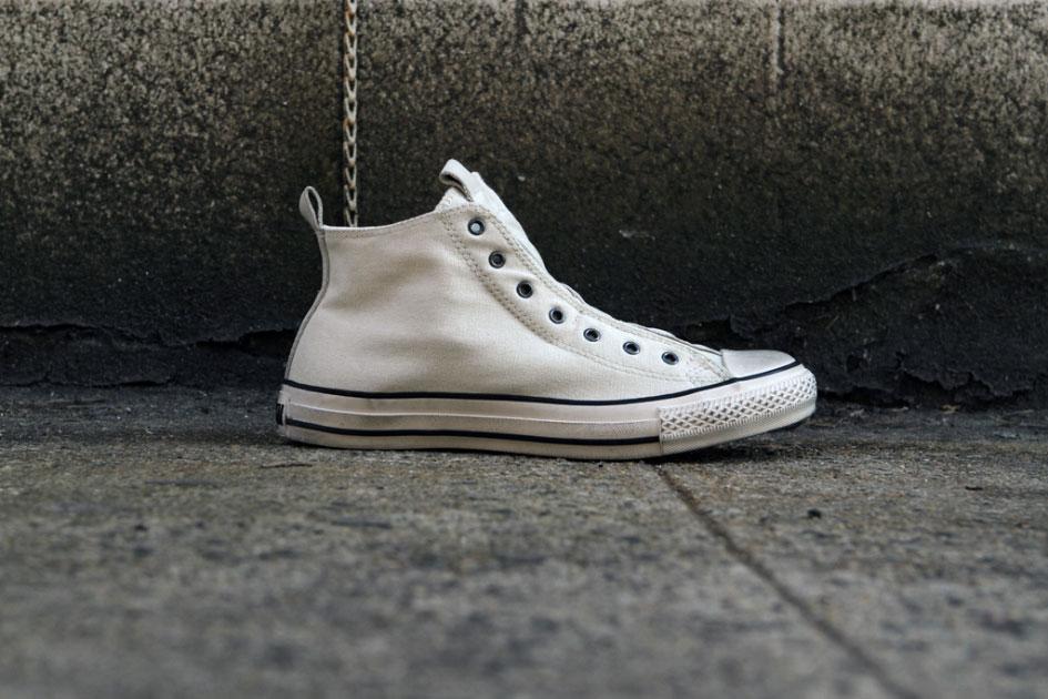 John Varvatos x Converse All Star Laceless Hi Blanc