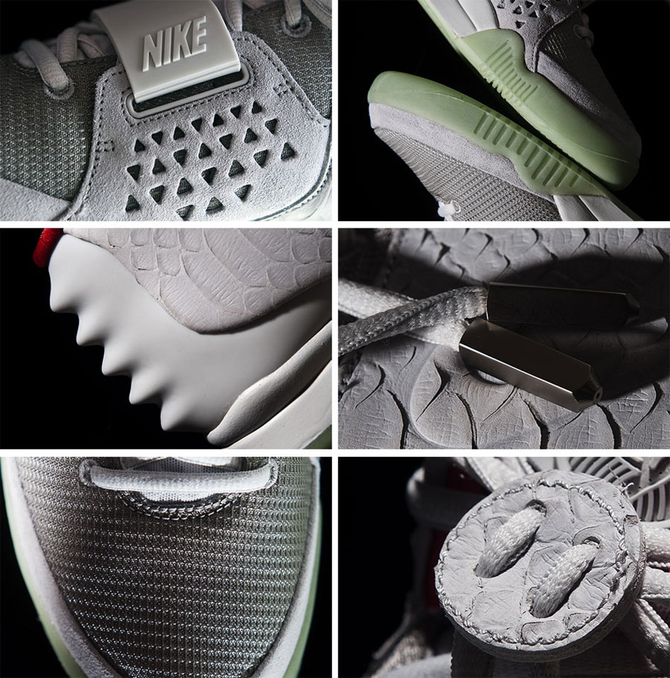 Nike Air Yeezy Wolf Grey/Pure Platinum 2012