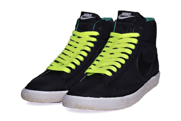 Nike Blazer Mid Nylon Black/Volt/New Green