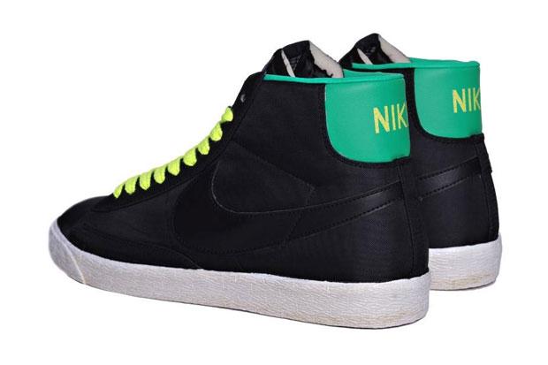 Nike Blazer Mid Nylon Noir/Jaune/Vert