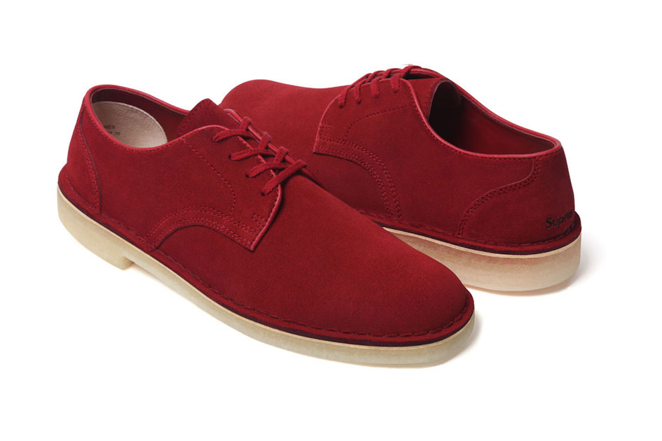 Supreme x Clarks Desert Mali Low Rouge