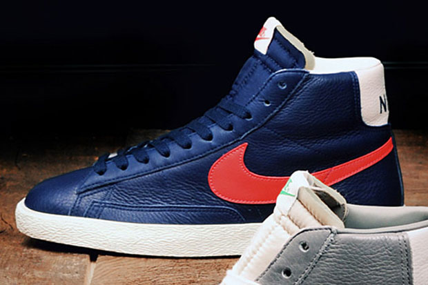 Stussy x Nike Blazer Retro 2012 Blue/Red (size?) (Alexandre Hoang)