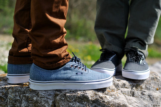 Vans Authentic Chambray Bleu - Printemps 2012
