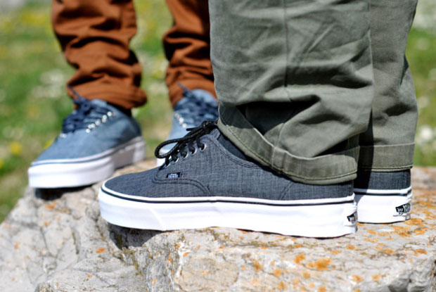 Vans Authentic Chambray Gris - Printemps 2012