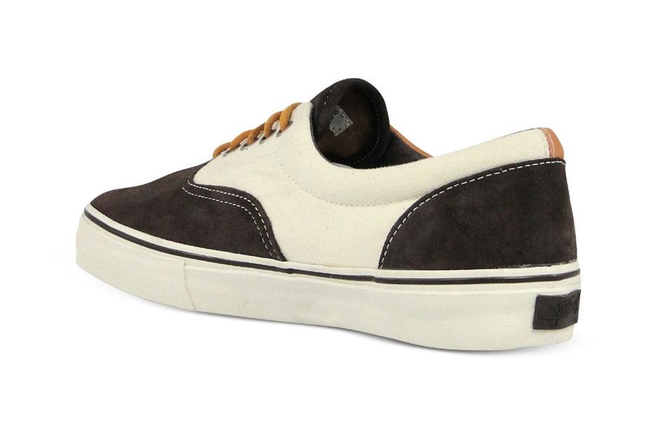 Vans Vault Era LX Marron/Blanc Suede/Twill Canvas