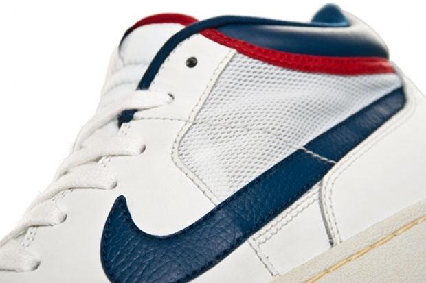 Nike Challenge Court Mid (Summit White/Gym Red)-3