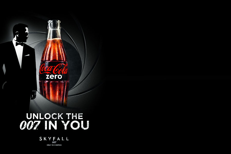 Affiches Coca-Cola Zero x James Bond Skyfall