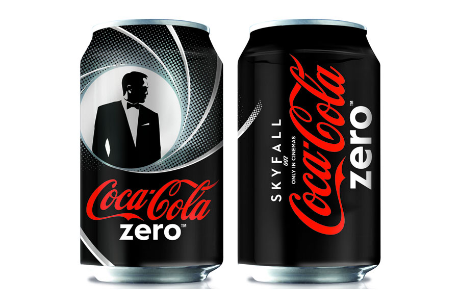 Canettes Coca-Cola Zero x James Bond Skyfall