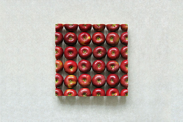 Geometric Food Art by Sakir Gokcebag Apple 1