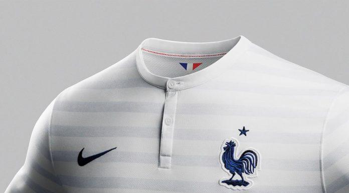 Nouveau Maillot Foot France Exterieur Coupe du Monde Brasil 2014