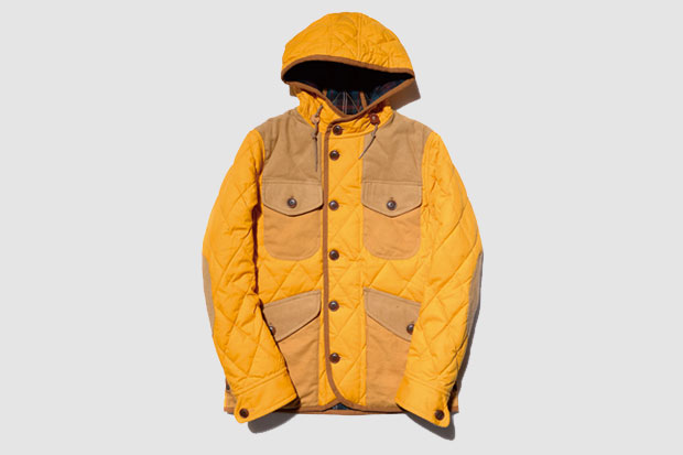 Manteau de chasse Junya Watanabe MAN Quilted Patchwork Jacket - Jaune