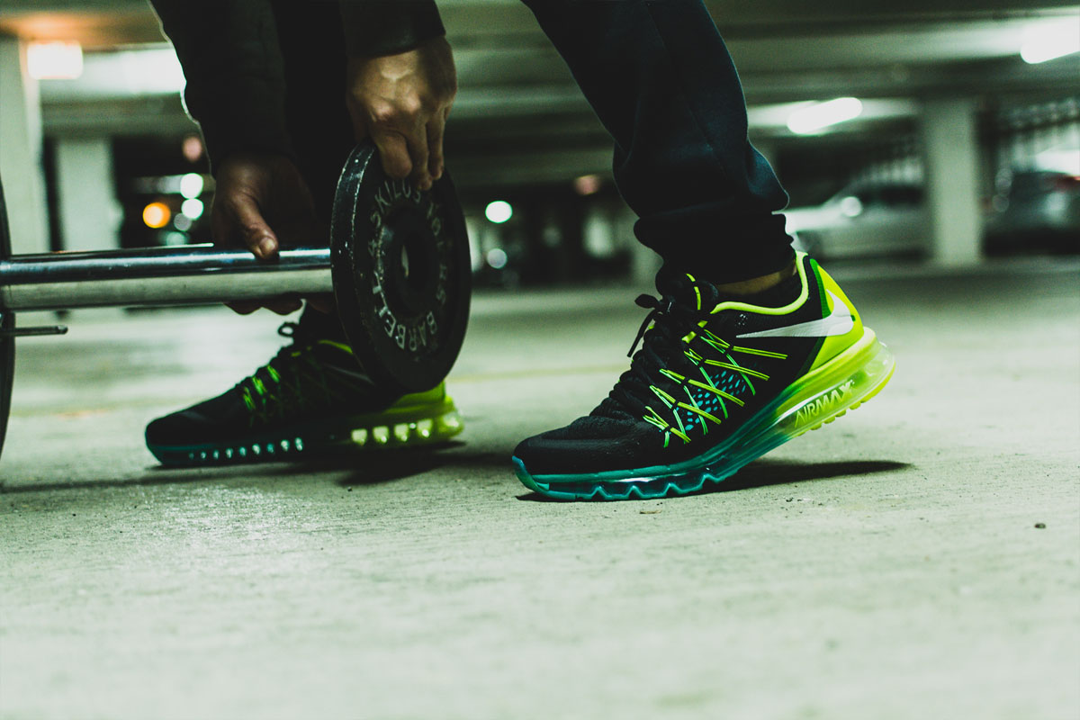 Nike Air Max 2015 Black White Volt Hyper Jade