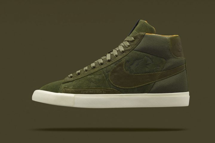 Nike Blazer Mid (Olive) x Mo'Wax by James Lavelle