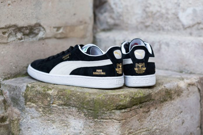 PUMA Suede X Red Bull Bc ONE 'Little Shao' (Noir/Blanc/Or)