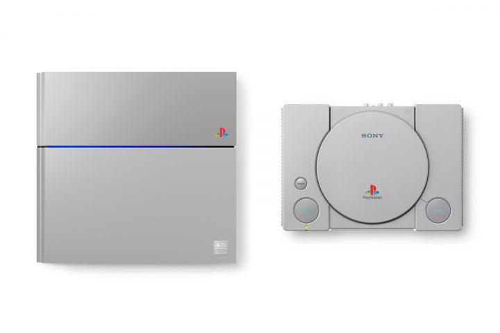 Comparaison PS1/PS4 Grise - Anniversaire 20 ans de la PlayStation