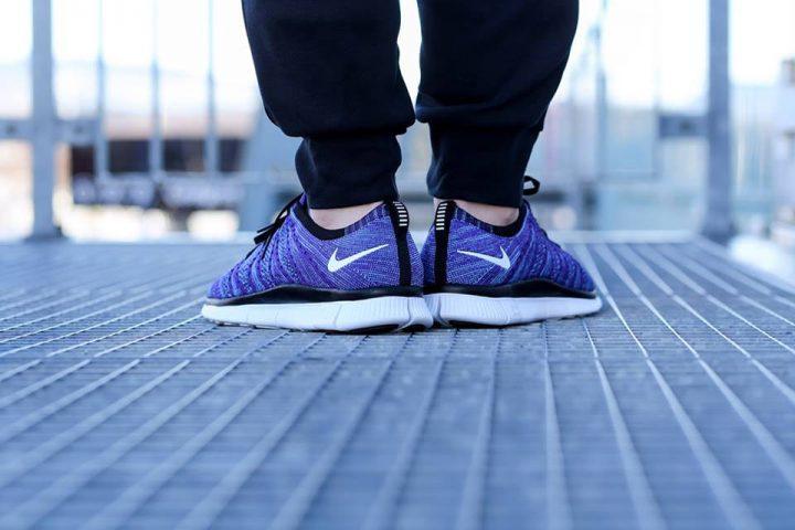 Nike Free Flyknit NSW 'Court Purple' (White-PolarizedBlue-Black)-1