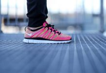 Nike Free Flyknit NSW (Pink Flash/White Volt)-2