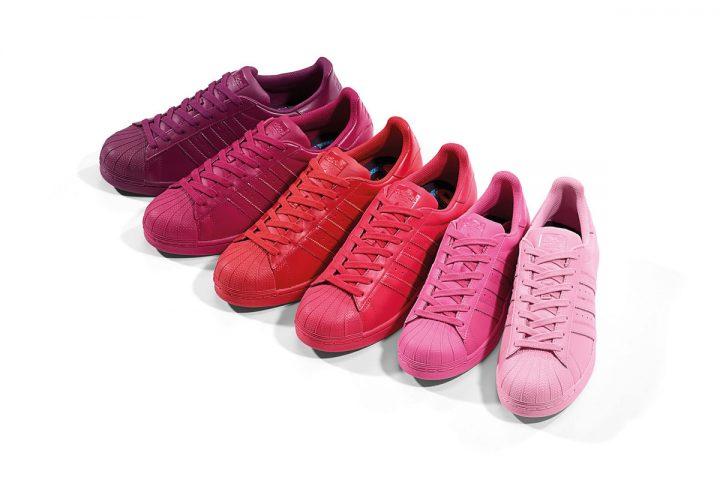 adidas-Originals-x-Pharrell-Supercolor-Superstar-Pack-Red-Pink-Purple