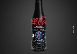 Coca-Cola x PSG - Bouteille Noire