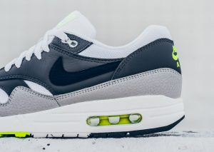 Nike Air Max 1 ESSENTIAL (White/Dark Grey/Volt)-2