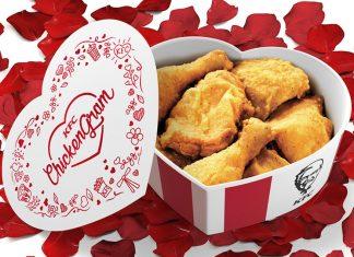 KFC ChickenGram Saint-Valentin 2017
