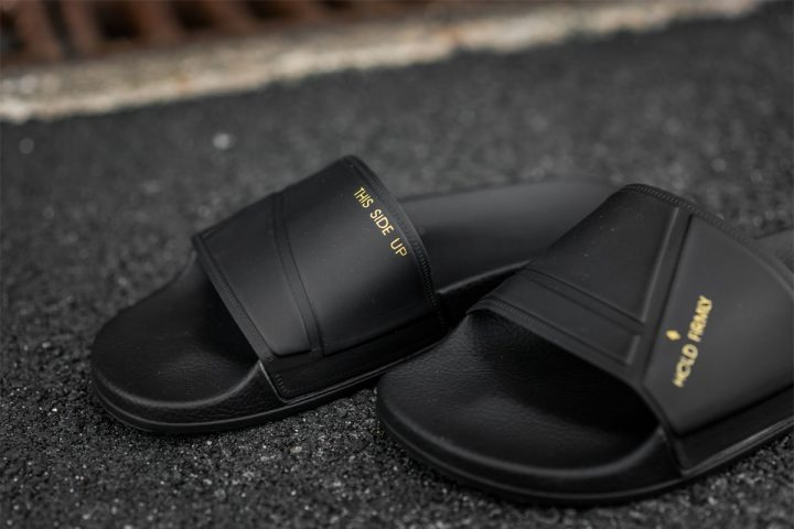 adidas by Raf Simons adilette Bunny (Black/Noir)-4