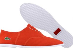 Chaussures Lacoste Ronne rouge