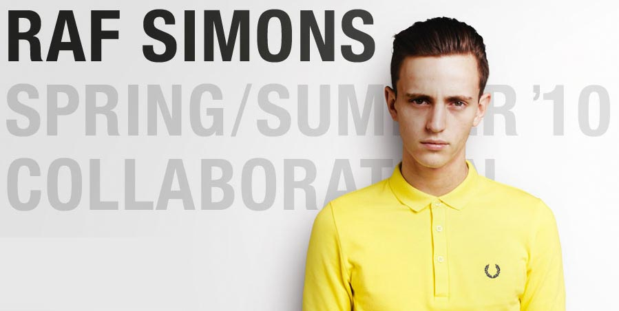 Raf Simons x Fred Perry collection 2010