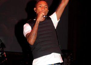 Pharrell Williams wearing Moncler vest