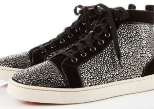 Christian Louboutin Louis Suede Sneakers black