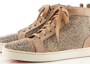 Christian Louboutin Louis Suede Sneakers brown