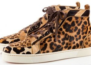 Christian Louboutin Rantus Orlato Pony Hair Leopard Print Sneakers