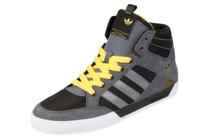 adidas Hardcourt Mid Noir-gris-jaune