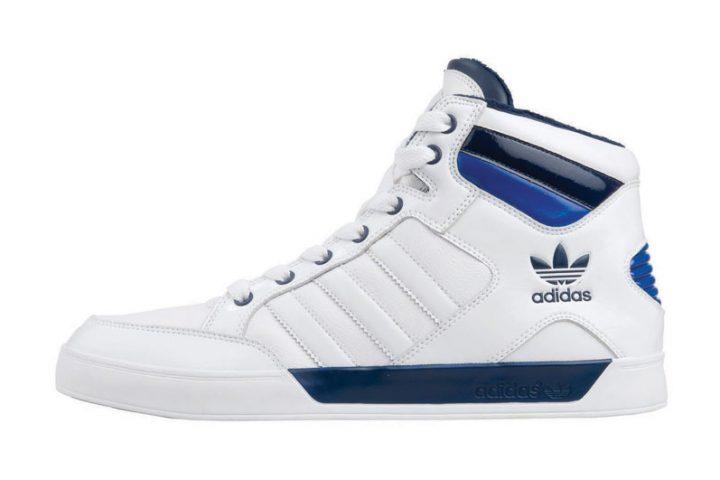 adidas Hardcourt Mid blanc-bleu