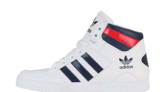 adidas Hardcourt Mid blanc-bleu-rouge