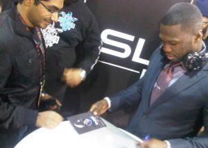 50 Cent au salon CES présentation casque Sleekby50Cent