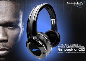 Casque audio Sleek par 50 cent
